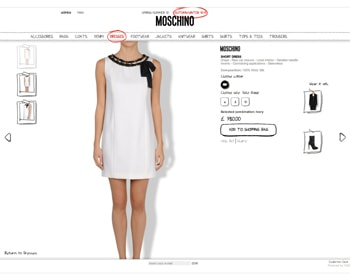 Moschino online gets new look