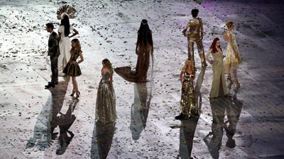 Fashion takes centre stage at Olympics Closing Ceremony